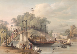 The Suspension Bridge at Alipore, over Tolly's Nulla